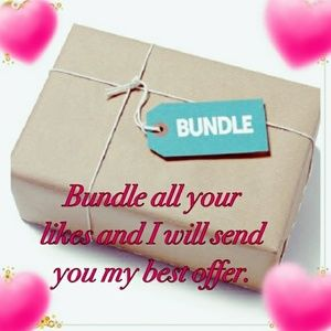 Other - Bundle all your likes for a private discount